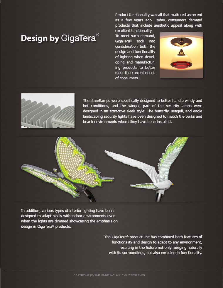 Design setup of GigaTera products